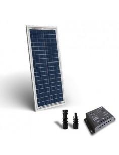 Kit Solare Base 30W 12V Pannello Fotovoltaico Regolatore 5A PWM