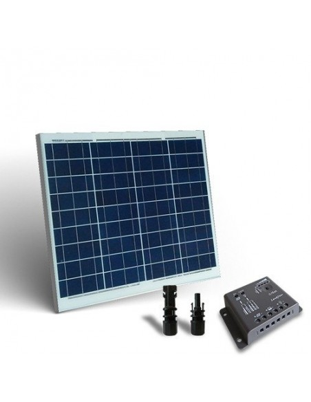 50W Solar Kit base Placa Solar Panel Fotovoltaico + Regulador de Carga 5A - PWM