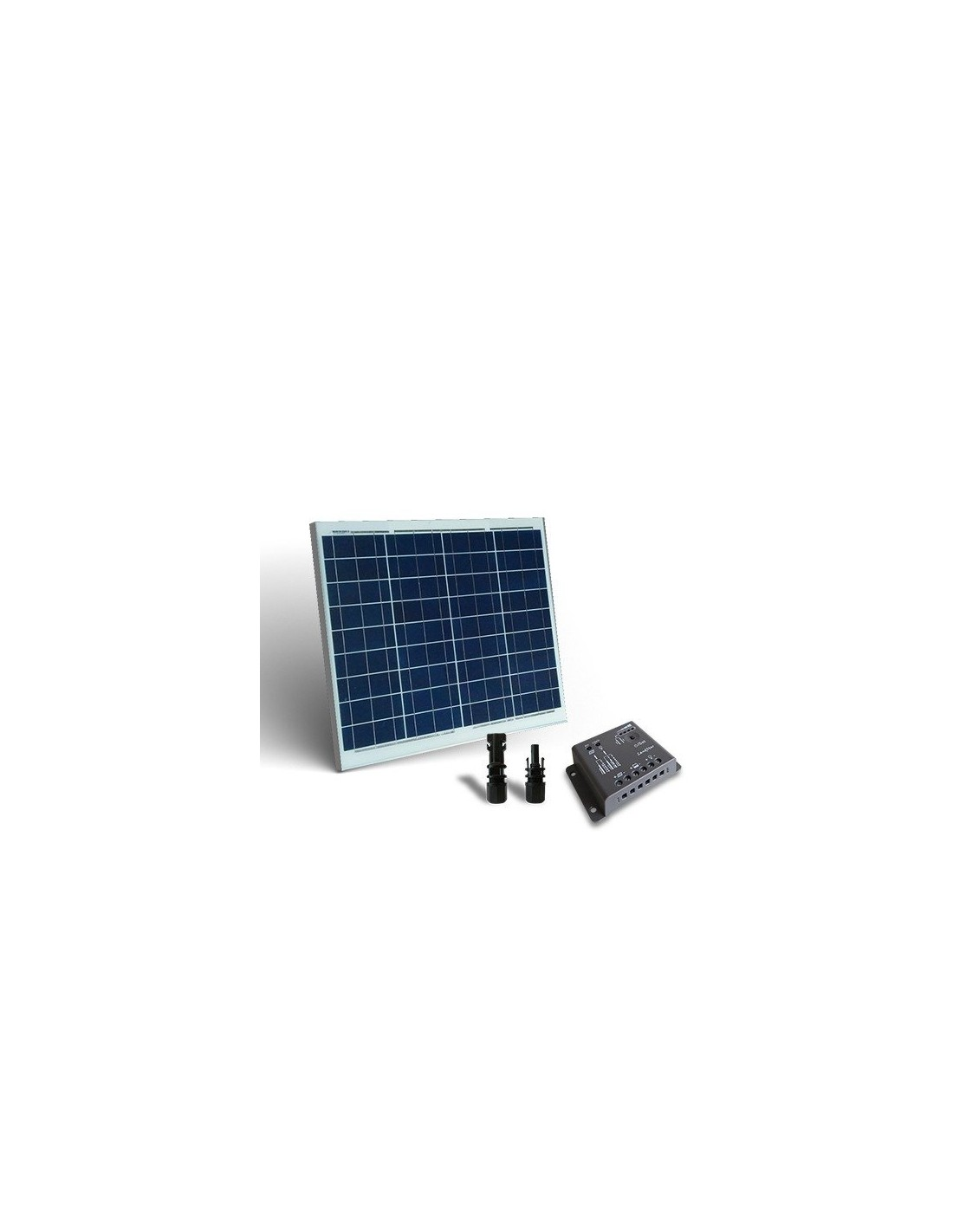 kit solaire 50w base panneau photovoltaique regulateur de charge 5a pwm. Black Bedroom Furniture Sets. Home Design Ideas