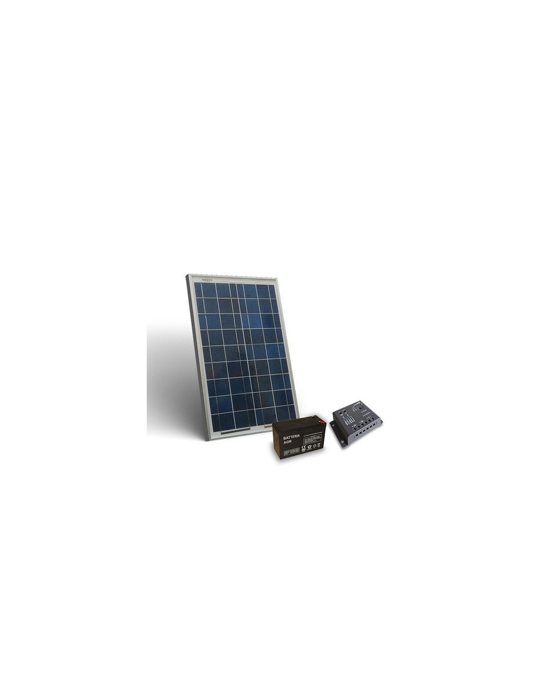 Kit Pannello Solare 10w : Kit solare pro w v pannello fotovoltaico regolatore a pwm