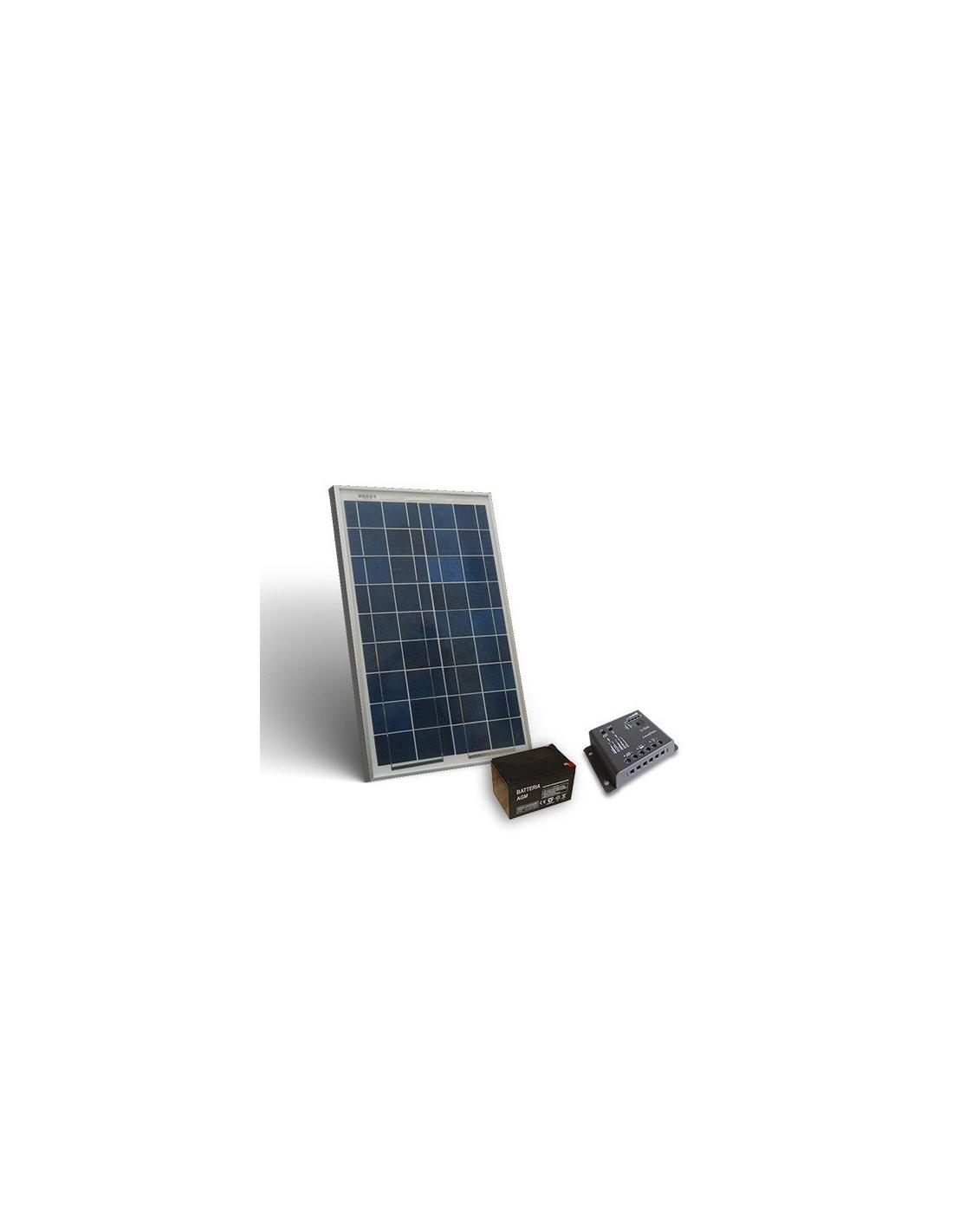 Kit Pannello Solare 50 Watt : Kit solare pro w v pannello fotovoltaico regolatore a pwm