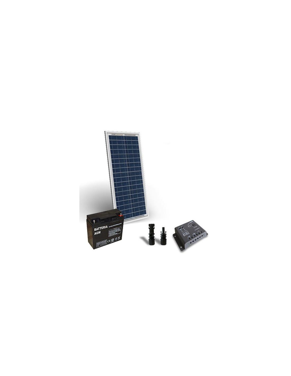 Kit Pannello Solare E Batteria : Kit solare pro w v pannello regolatore a pwm batteria