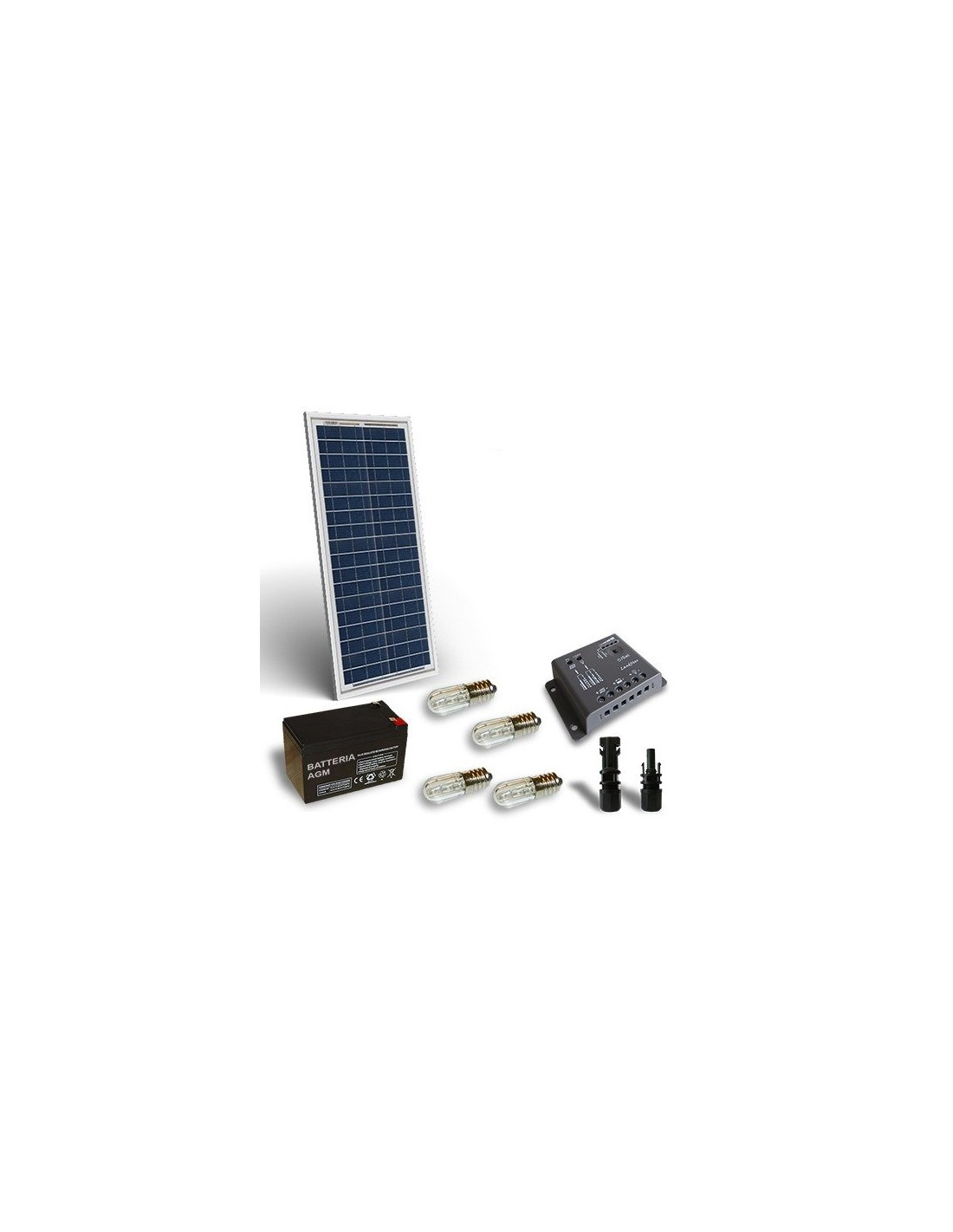 kit solaire votif 30w 12v panneau solaire batterie. Black Bedroom Furniture Sets. Home Design Ideas