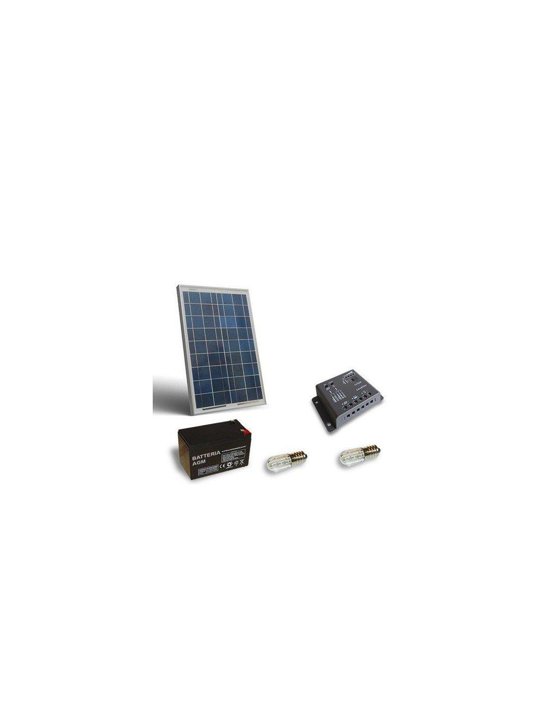 Regolatore Di Carica Pannello Solare : Kit solare votivo w pannello fotovoltaico batteria ah