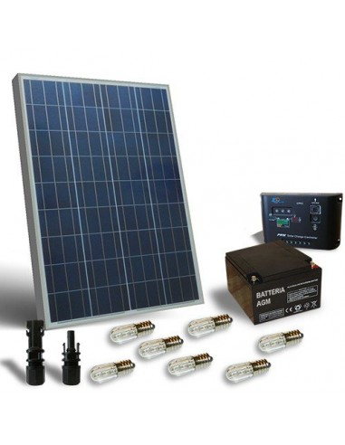 100W SOLAR VOTIVE KIT, solar PANEL, battery, charge regulator VOTIVE lamps