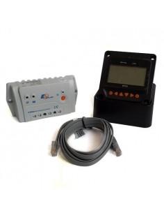 Controleur de charge Ep Solar PWM 10A 12/24V New LandStar + Display distance MT50