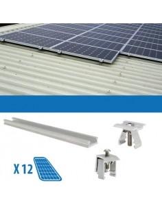 Kit Fissaggio per 12 Pannello Solare Fotovoltaico da 250W 3Kw Lamiera Grecata