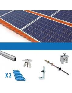 Kit Fissaggio per 2 Pannello Solare Fotovoltaico da 250W Tetto Falda