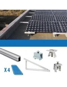 Kit Fissaggio per 4 Pannello Solare Fotovoltaico da 250W 1Kw Tetti Piani
