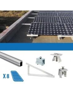 Kit Fissaggio per 8 Pannello Solare Fotovoltaico da 250W 2Kw Tetti Piani