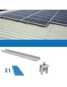 Kit Fissaggio per 1 Pannello Solare da 250W Lamiera Grecata