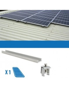 Fixing Kit on Corrugated Metal Sheet x1 Photovoltaic Solar Panel of 80W-150W