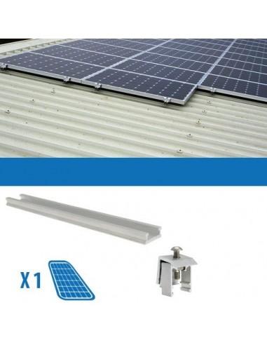 Kit di Fissaggio su Lamiera Grecata x1 Pannello Solare Fotovoltaico da 80W-150W