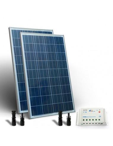 kit solaire 160w base panneau photovoltaique regulateur. Black Bedroom Furniture Sets. Home Design Ideas