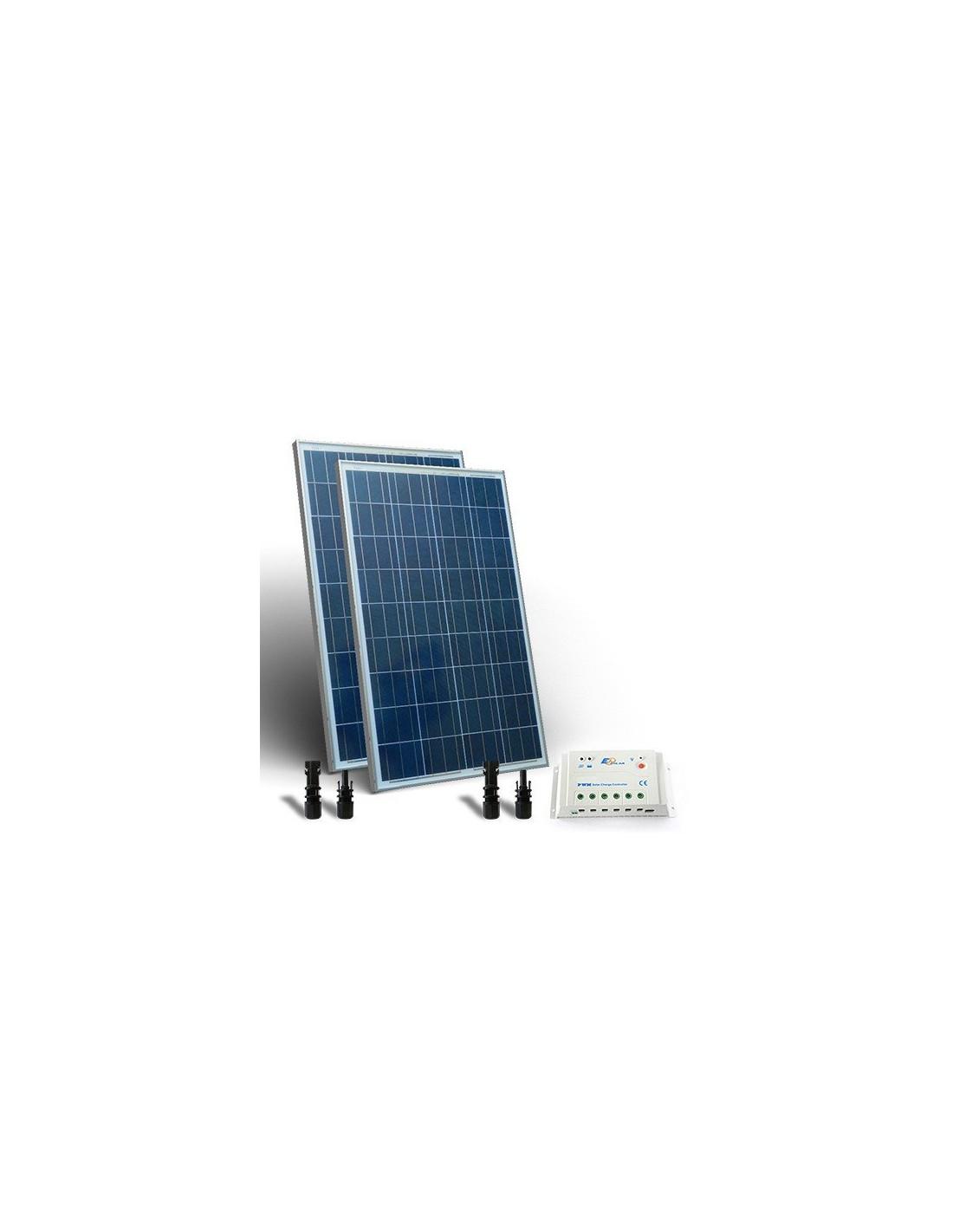 kit solaire base 160w 12 24v panneau photovoltaique regulateur de charge 20a pwm. Black Bedroom Furniture Sets. Home Design Ideas