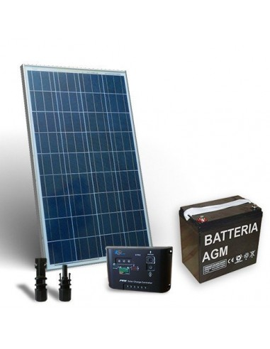 80W 12V Solar-Kit pro Solarmodul Panel Laderegler 5A-PWM 1xAkkumulator 40Ah