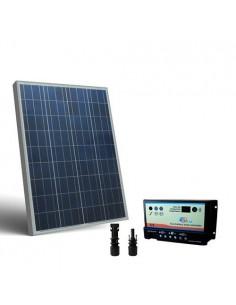 Kit Solare Camper 100W 12V Pannello Fotovoltaico, regolatore per due Batterie