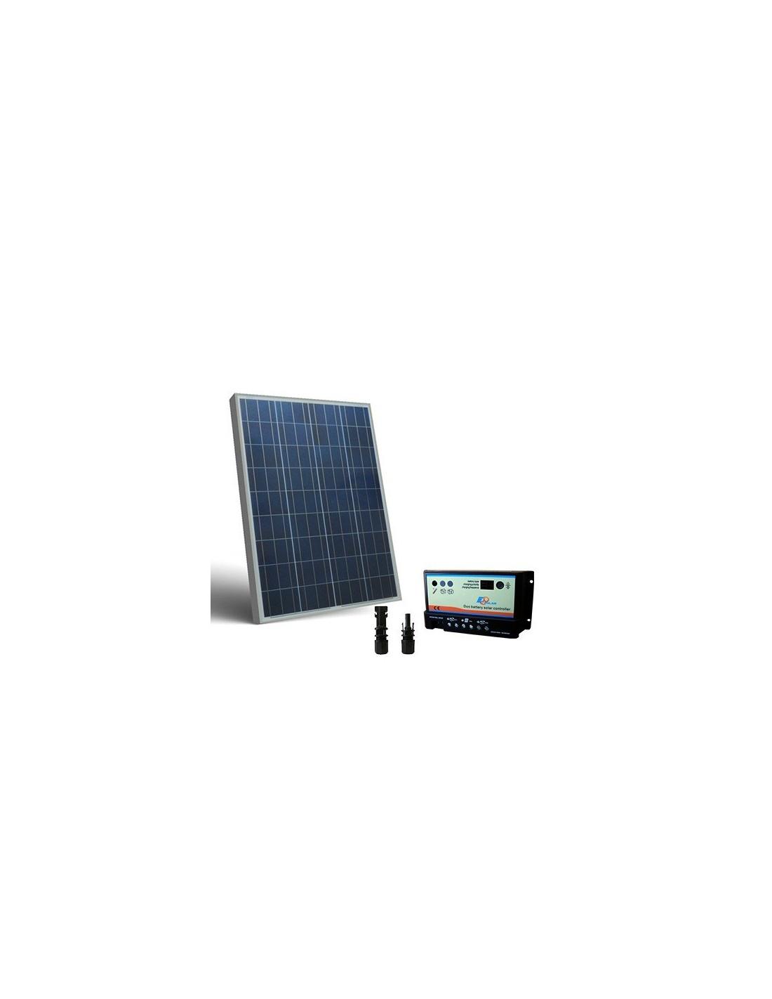 Kit Pannello Solare 100w : Kit solare camper w v pannello fotovoltaico regolatore