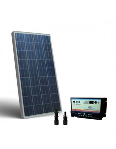 Kit Solare Camper 150W 12V Pannello Fotovoltaico, regolatore per due Batterie