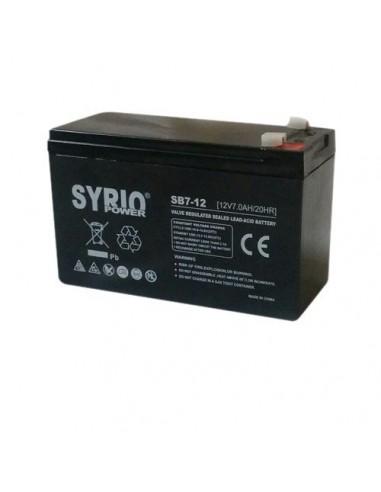 Batteria 7Ah 12V AGM Syrio Power Fotovoltaico nautica camper veicoli elettrici