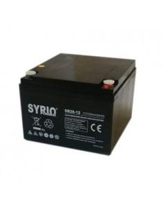 Batteria 26Ah 12V AGM Syrio Power Fotovoltaico nautica camper veicoli elettrici