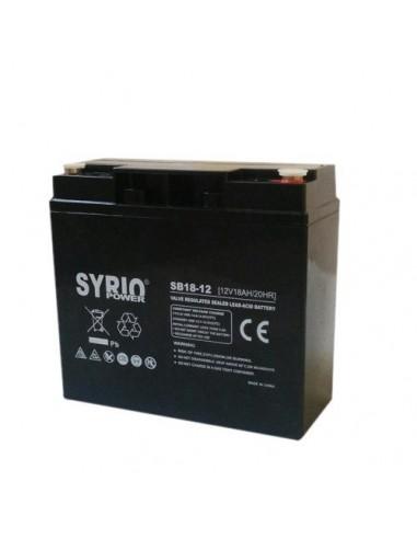 Batteria 18Ah 12V AGM Syrio Power Fotovoltaico nautica camper veicoli elettrici