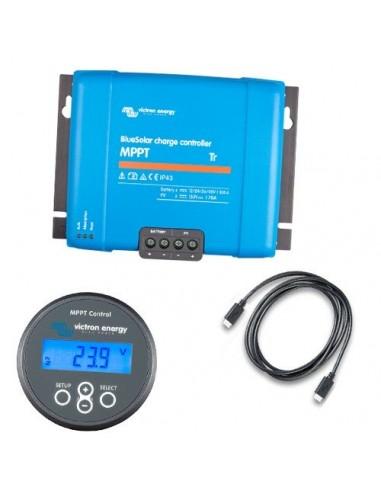 Set Regolatore di Carica MPPT BlueSolar 150/45-Tr 150VOC 45A + Display MPPT Control