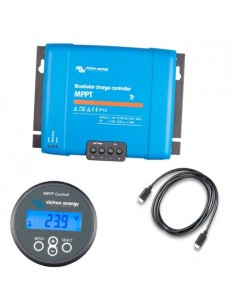 Set Charge Controller BlueSolar MPPT 150/60-Tr 150VOC 60A + Display MPPT Control