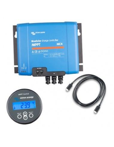 Set Charge Controller BlueSolar MPPT 150/60-MC4 150VOC 60A + Display MPPT Control
