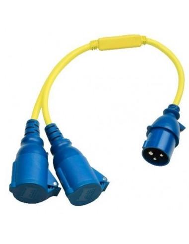 Câble adaptateur 30 cm avec bouchon en caoutchouc 250V 16A Victron Energy.