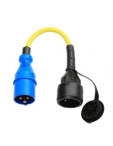Câble adaptateur 30 cm prise CEE en caoutchouc 16A 250V Victron Energy