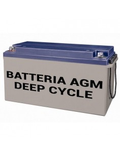 AGM Deep Cycle Battery 220Ah 12V Photovoltaic Nautical Camper
