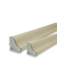 PAIR of depth 510 mm ALUMINIUM SUPPORTS for camping-cars and boats