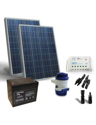 Kit Solare Irrigazione 94 l/m 12V Pannello Regolatore di carica Pompa Batteria