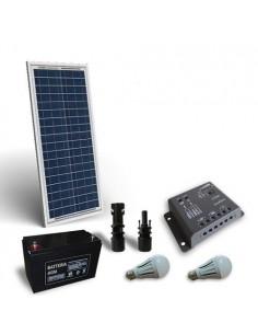 Kit Solare Illuminazione LED 30W 12V per Interni Fotovoltaico Stand-Alone Isola