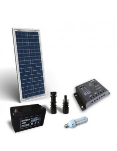Solar Lighting Kit fluo 30W 12V for Interior Photovoltaics