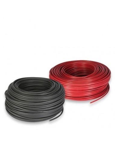 Set Câble solaire 4mm 1mt Rouge et 1mt Noir Photovoltaïque Nautic Campeur