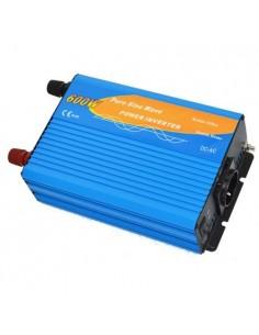 Inversor 600W 12V onda pura 1200W AC 230 Camper fotovoltaica coche