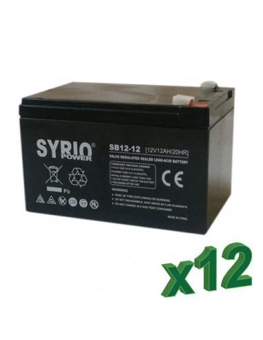 AGM Battery 12Ah 12V Syrio Power Off-Grid Solar System Electric Vehicles Marine