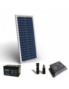 Kit Solare Pro 30W 12V Pannello Fotovoltaico Regolatore 5A PWM Batteria 12Ah 12V