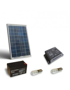 Votive Solar Kit 10W Photovoltaic Panel AGM Battery 12Ah 12V Charge controller