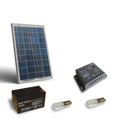 Kit Pannello Solare 10w : Kit solare votivo w pannello fotovoltaico batteria ah