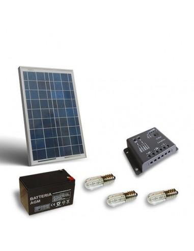 Kit Solare Votivo 20W Pannello Fotovoltaico, Batteria, Regolatore di carica, LED