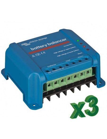 Set de 3 équilibreurs de charge pour batterie 48V photovoltaïque accumulation