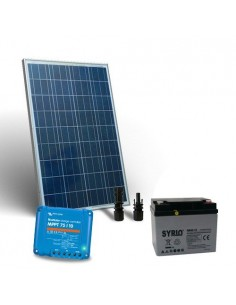 Kit Solare 80W 12V Pro2 Pannello Fotovoltaico Regolatore 10A MPPT Batteria 40Ah