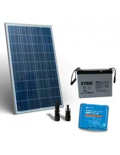 Kit Solaire 100W 12V Pro2 Panneau Contrôleur de charge 10A MPPT Batterie 60Ah