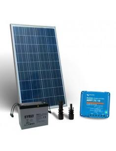 Kit Solare 150W 12V Pro2 Pannello Fotovoltaico Regolatore 15A MPPT Batteria 80Ah