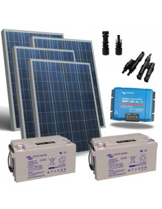 Kit Solare 600W 12V Pro2 Pannello Regolatore 45A MPPT Batteria 220Ah