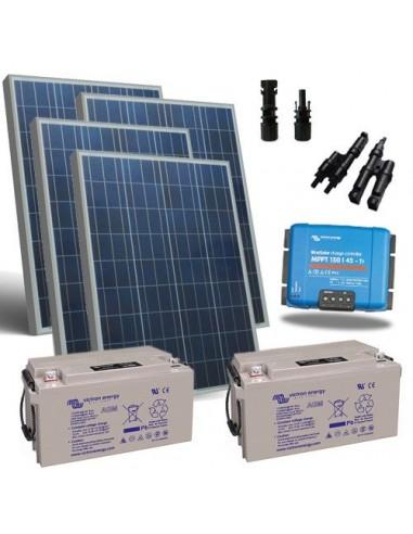 Kit Solare Base 100W Pannello Fotovoltaico + Regolatore 10A - PWM
