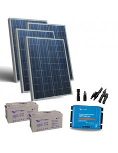 Kit Solare 400W 12V Pro2 Pannello Regolatore 30A MPPT Batteria 165Ah